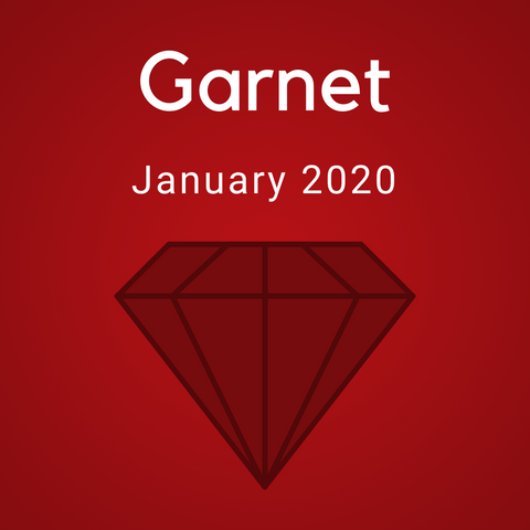 Garnet Color Countdown Shipment - January 2020