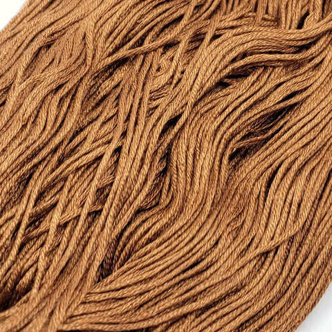 Gingerbread - 8 yard skein - StitchySilk French Spun Silk - Limited Edition
