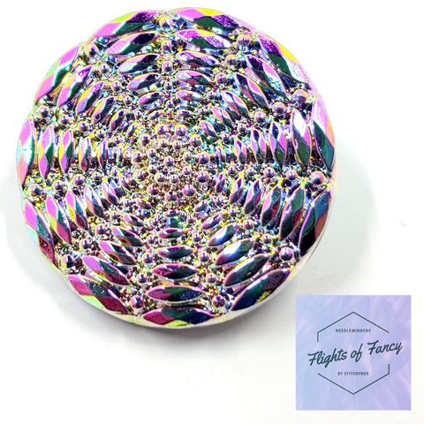 Rainbow Pink Metallic Flower Web - Flights of Fancy Needleminder