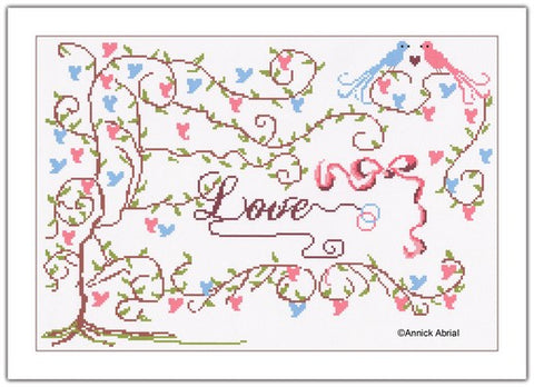 Love cross stitch chart - Annick Abrial