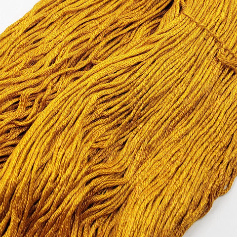 Marigold - 8 yard skein - StitchySilk French Spun Silk - Limited Edition