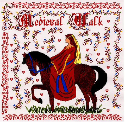 Medieval Walk cross stitch chart - Annick Abrial