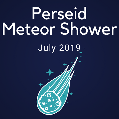 Perseid Meteor Shower Color Countdown Shipment - July 2019