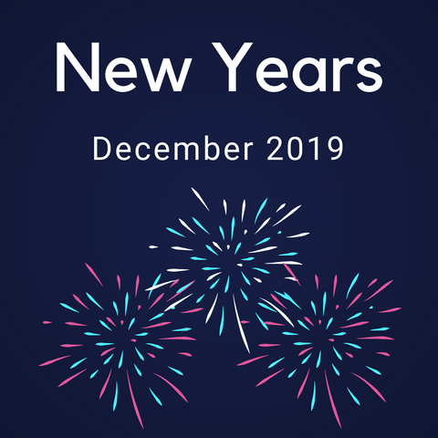 New years color countdown shipment december 2019 - New year 2019 color ...