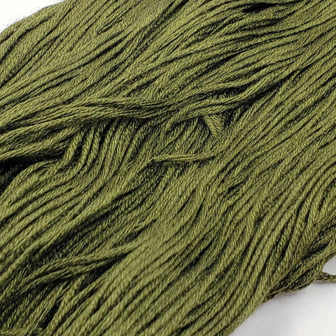 Old Moss - 8 yard skein - StitchySilk French Spun Silk - Limited Edition