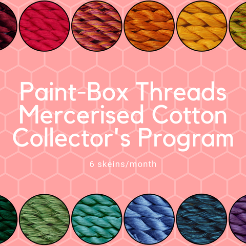 Paint-Box Threads Mercerised Cotton Thread Collector's Club - 6 skeins per month