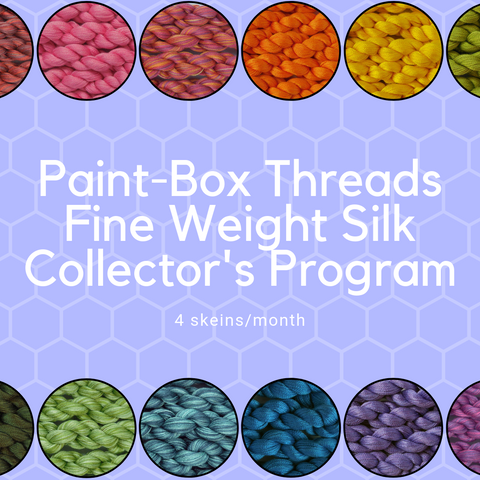 Paint-Box Threads Fine Weight Silk Thread Collector's Club - 4 skeins per month