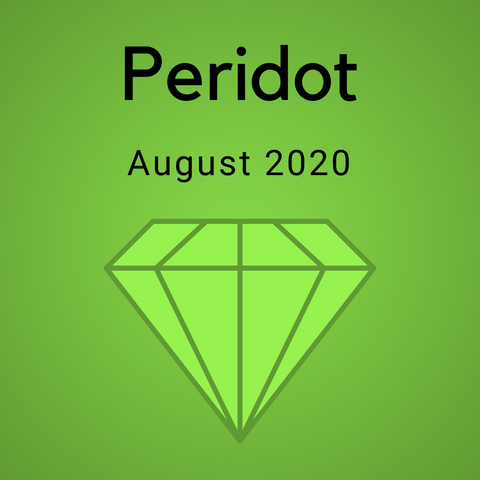 Peridot Color Countdown Shipment - August 2020