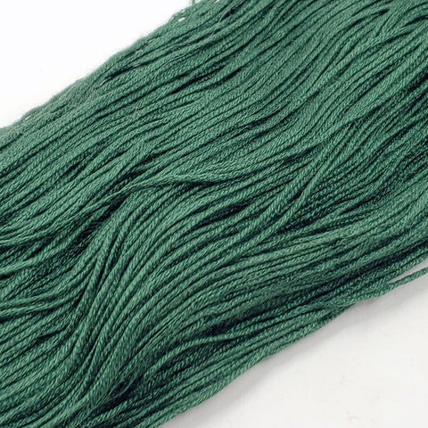 Pine - 8 yard skein - StitchySilk French Spun Silk - Limited Edition