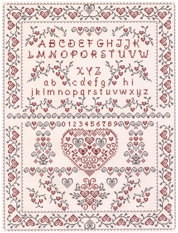 Heart to Heart Sampler chart - Annick Abrial