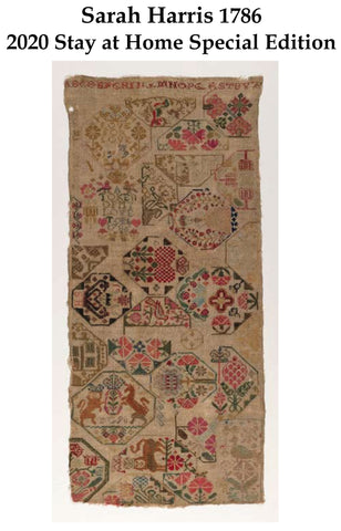 Sarah Harris 1786 Sampler Chart - 2020 Stay At Home Special Edition