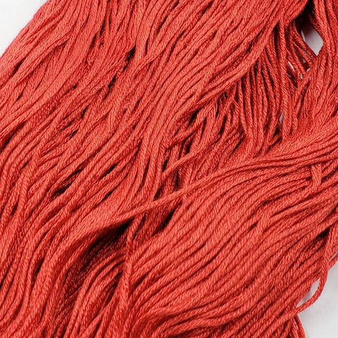 Scarlet - 8 yard skein - StitchySilk French Spun Silk - Limited Edition