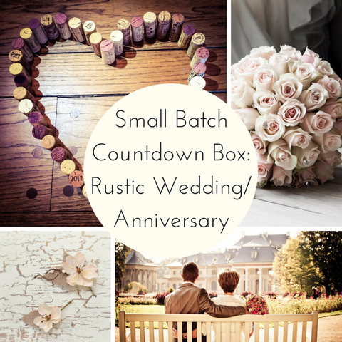 Rustic Wedding/Anniversary Small Batch Countdown Box
