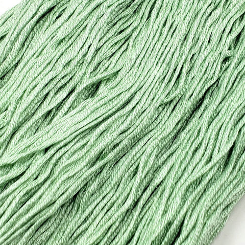 Soft Spearmint - 8 yard skein - StitchySilk French Spun Silk - Limited Edition