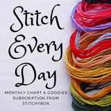 CHARTS ONLY: Stitch Every Day Month-to-Month Subscription - Monthly Charts & Goodies Subscription