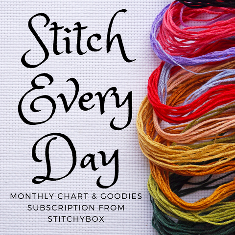 CHART + GOODIES: Stitch Every Day Month-to-Month Subscription - Monthly Charts & Goodies Subscription