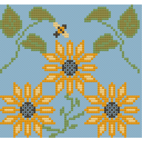 Sunflower Panel - Lindsay Lane Designs (Stitch It Up)
