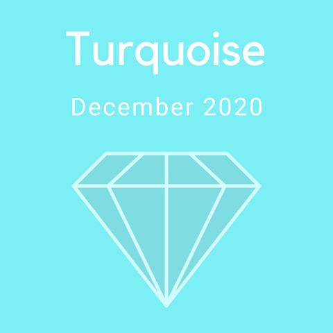 Turquoise Color Countdown Shipment - December 2020