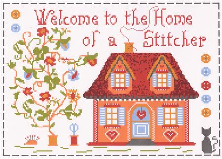 Welcome to the Home of a Stitcher cross stitch chart - Annick Abrial