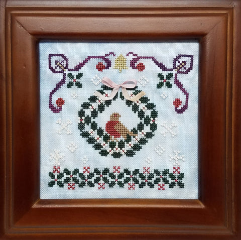 Christmas Wreath Chart - Lindsay Lane Designs (Stitch It Up)
