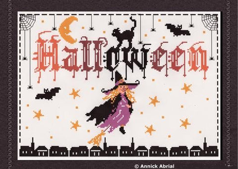 Halloween cross stitch chart - Annick Abrial