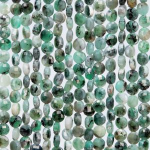 4mm Natural Emerald Button Rounds