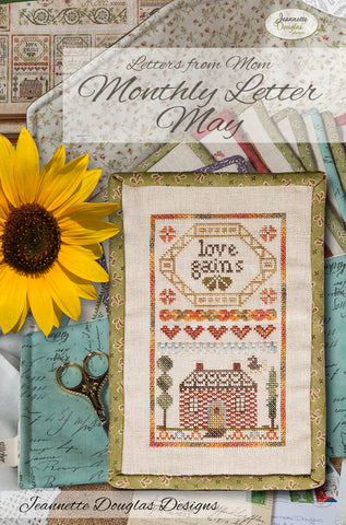 Letters from Mom - May Cross Stitch Chart - Jeannette Douglas Designs