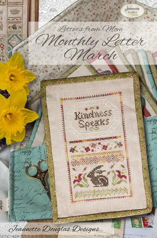Letters from Mom - March Cross Stitch Chart - Jeannette Douglas Designs