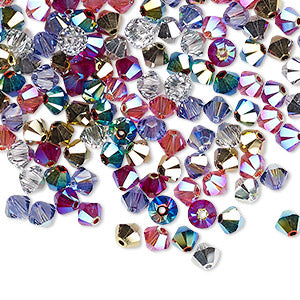 Swarovski 4mm Bicones - Rock Star Blend