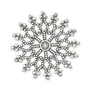 Silver-Plated Pewter Snowflake Focal