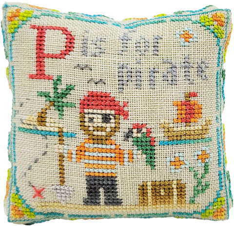 P is for Pirate - Happy Alphabet #16 - Cross Stitch Design by Tiny Modernist