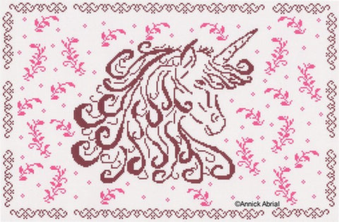 Unicorn Dream cross stitch chart - Annick Abrial