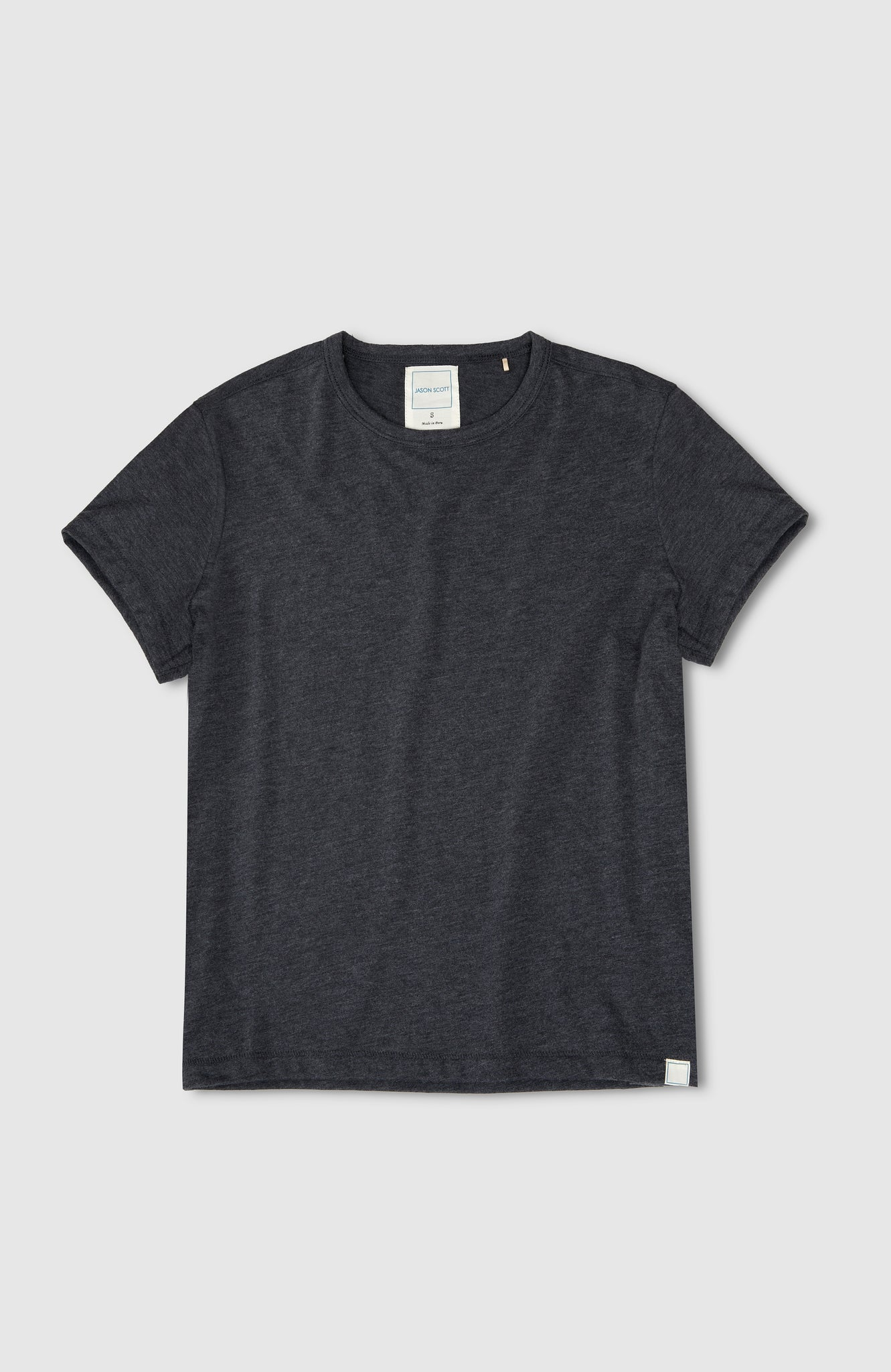 Shrunken Tee - Heather Charcoal