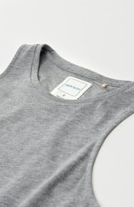 High Neck Tank - Heather Grey