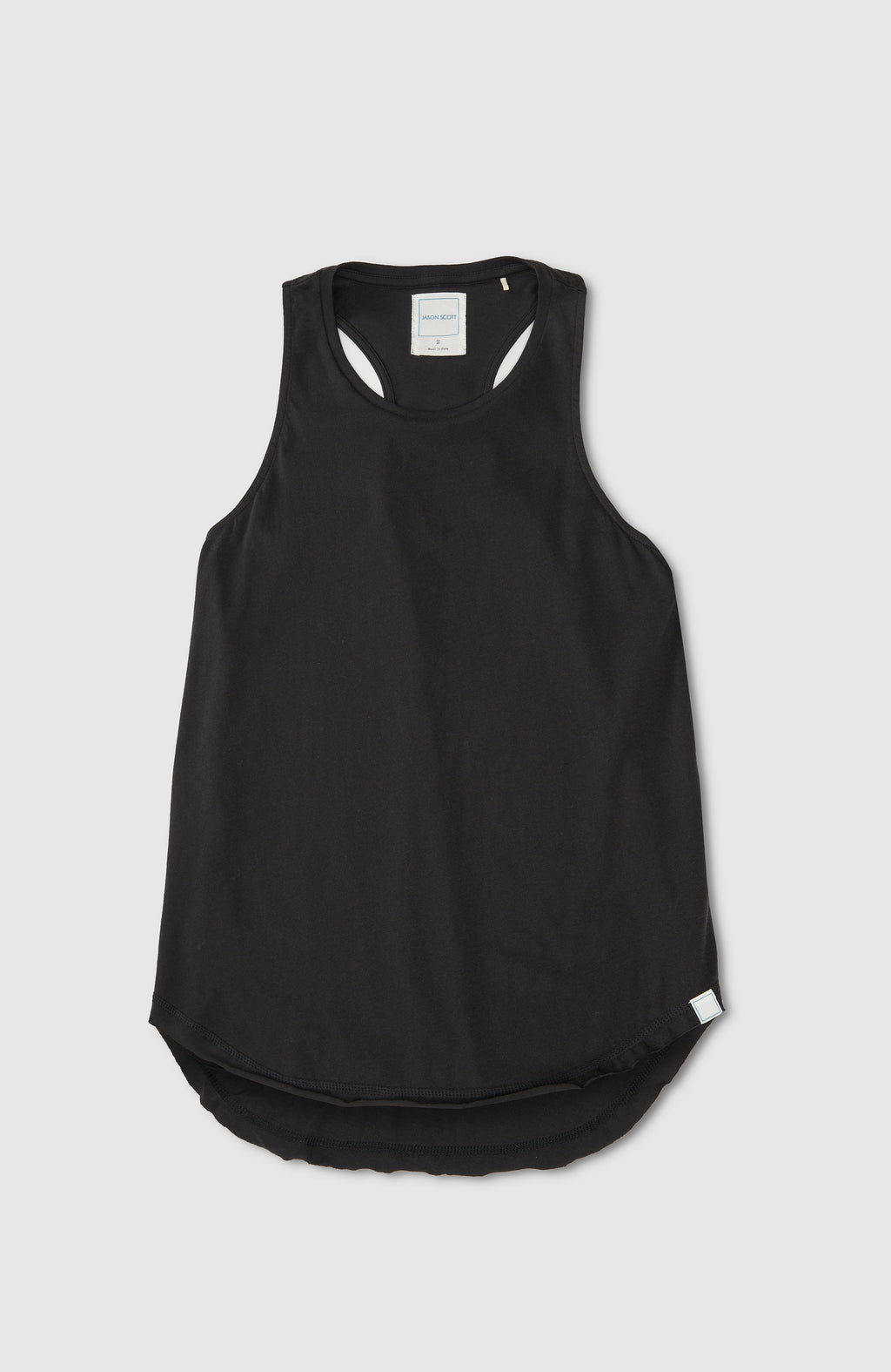 High Neck Tank - Black