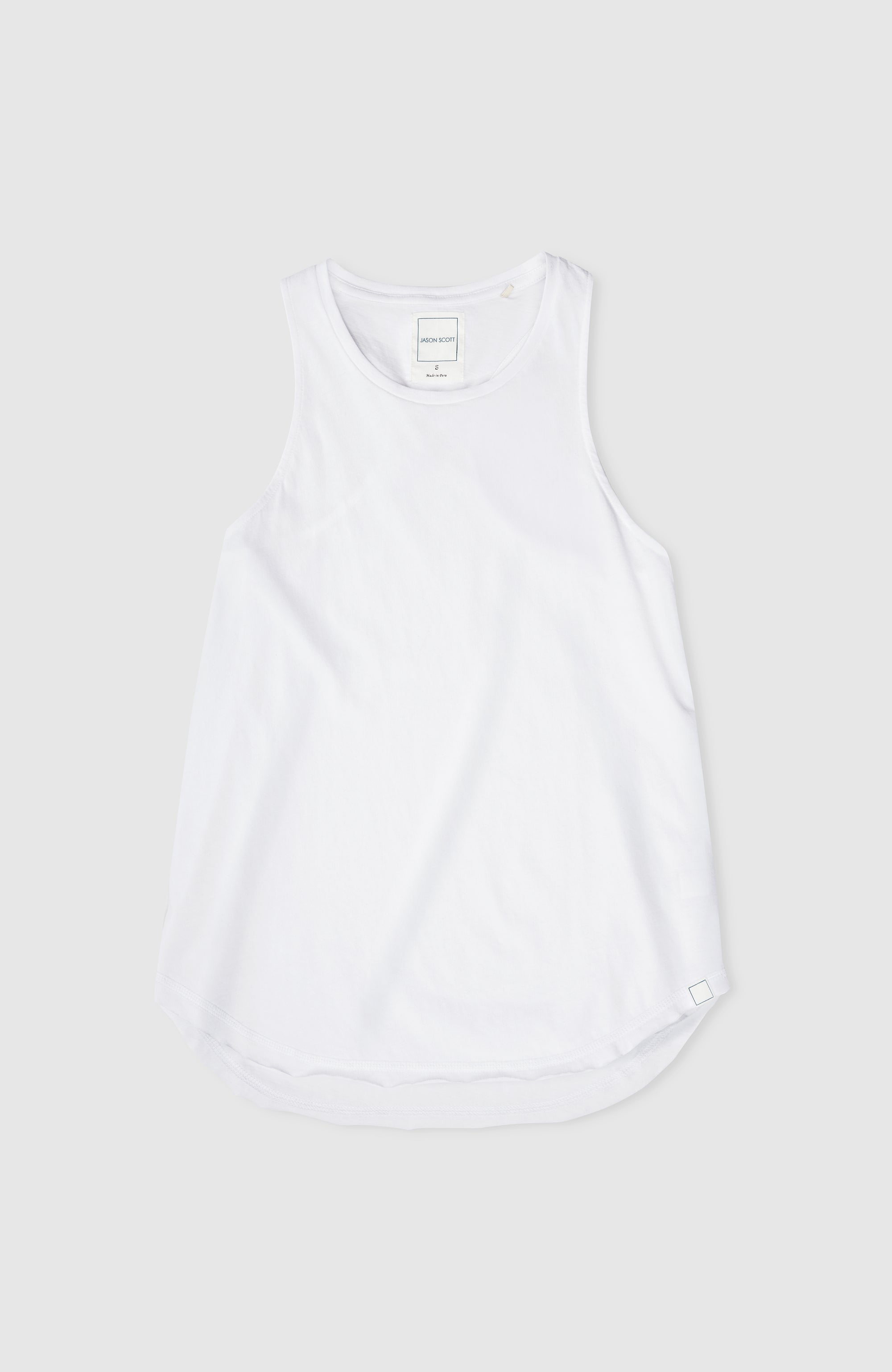 High Neck Tank - White