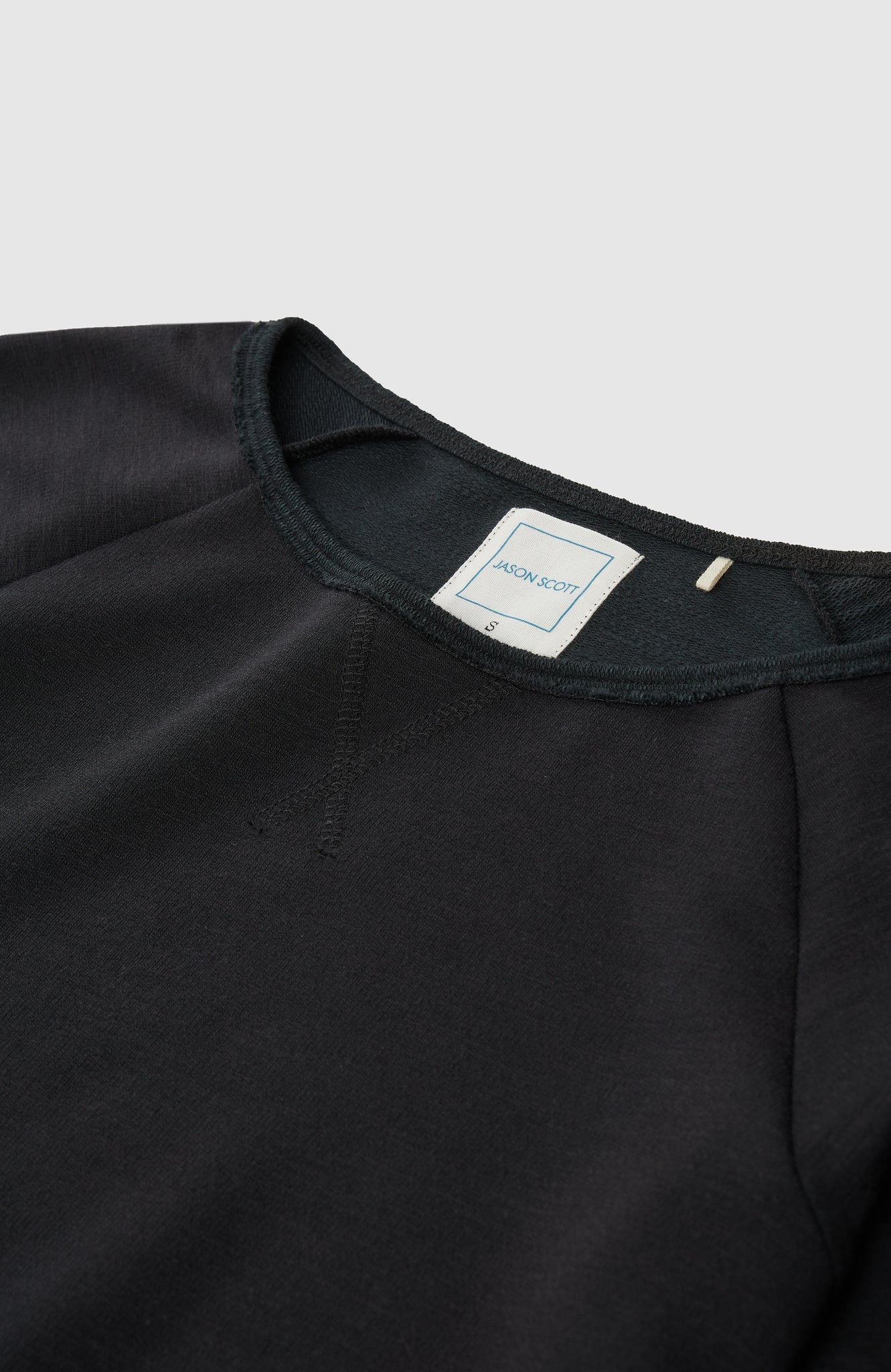 Wide Neck Sweatshirt - Black
