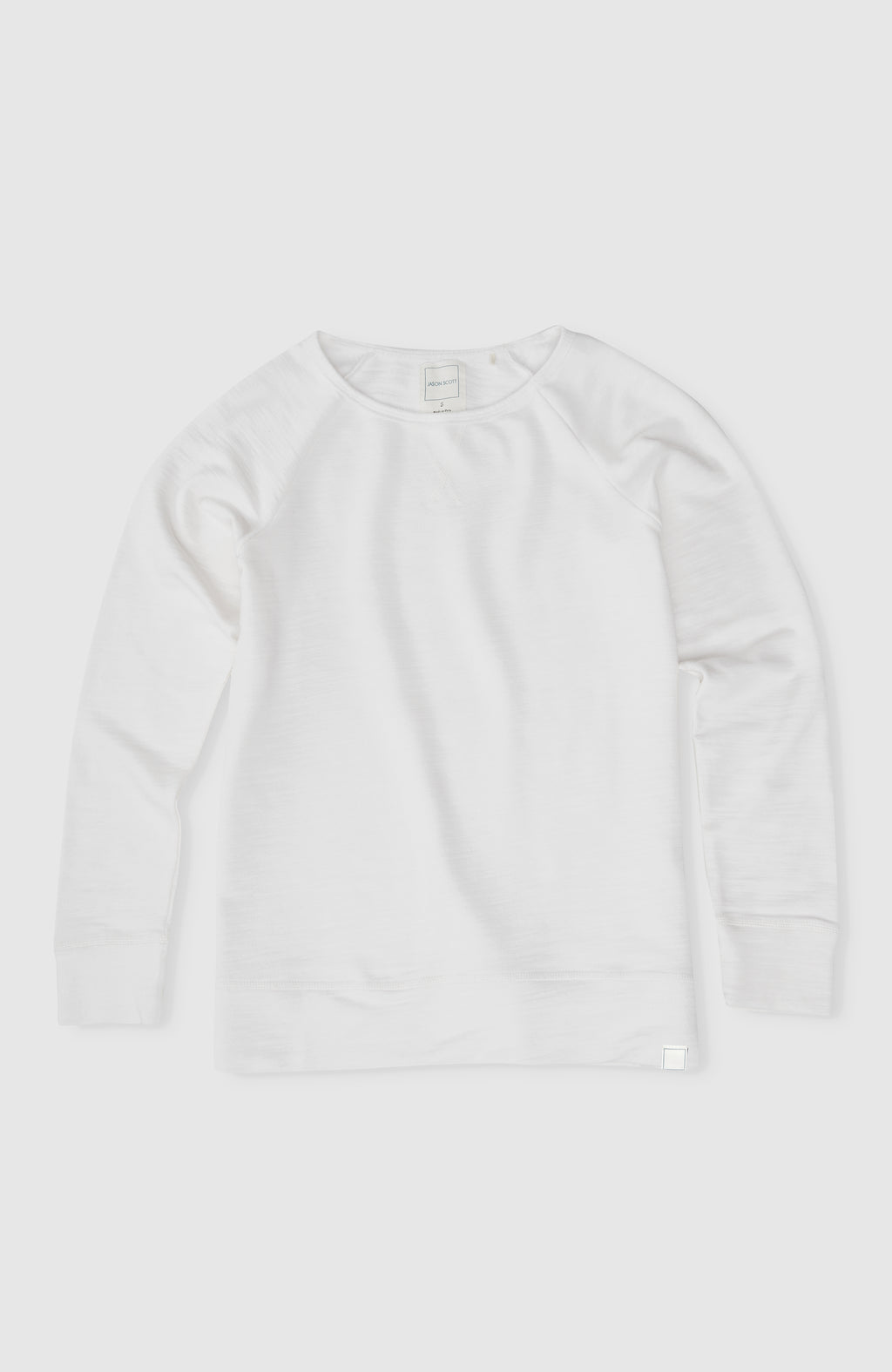 Wide Neck Sweatshirt - Ivory