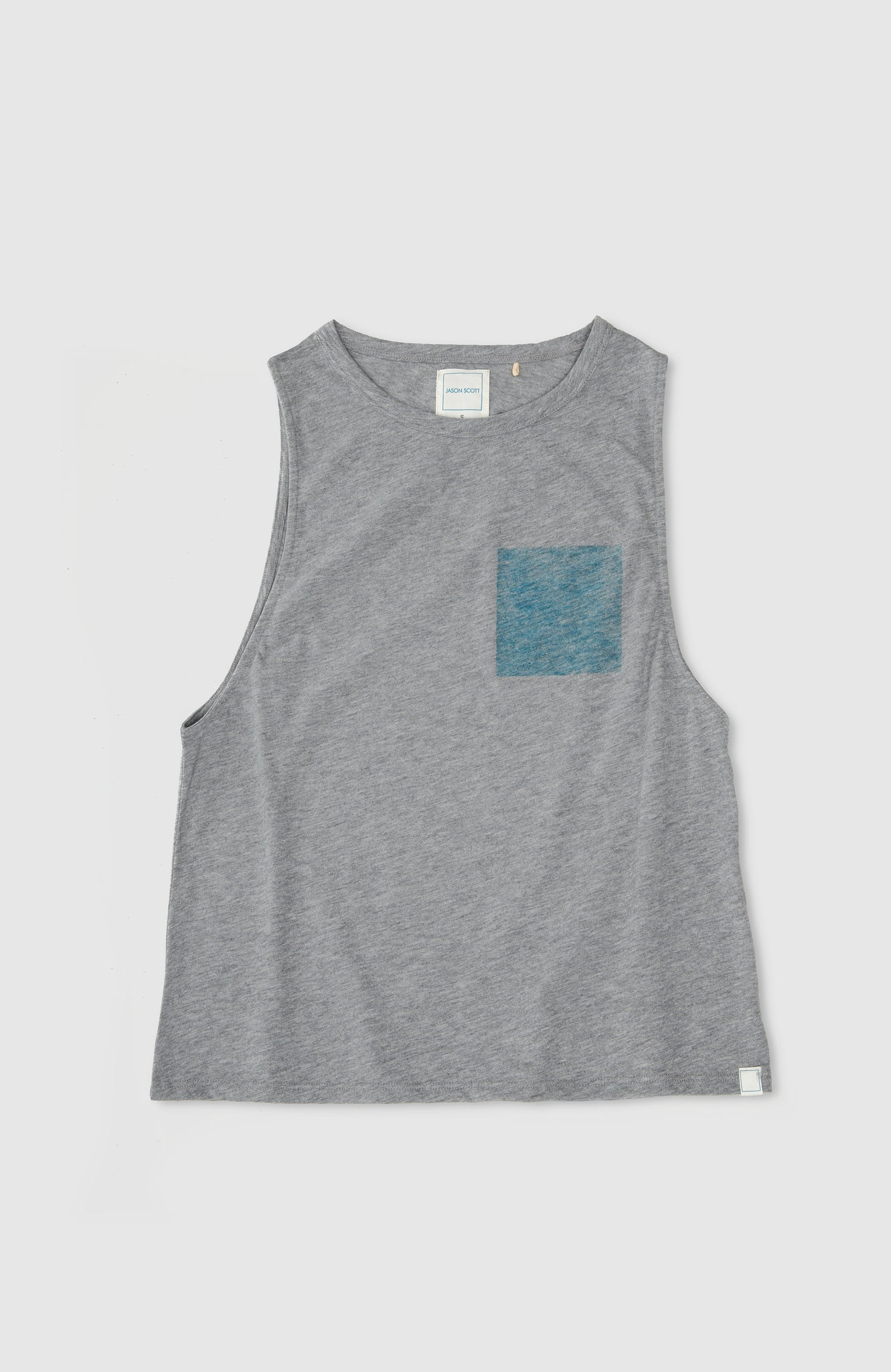 Sleeveless Tank W/ Print - Heather Grey