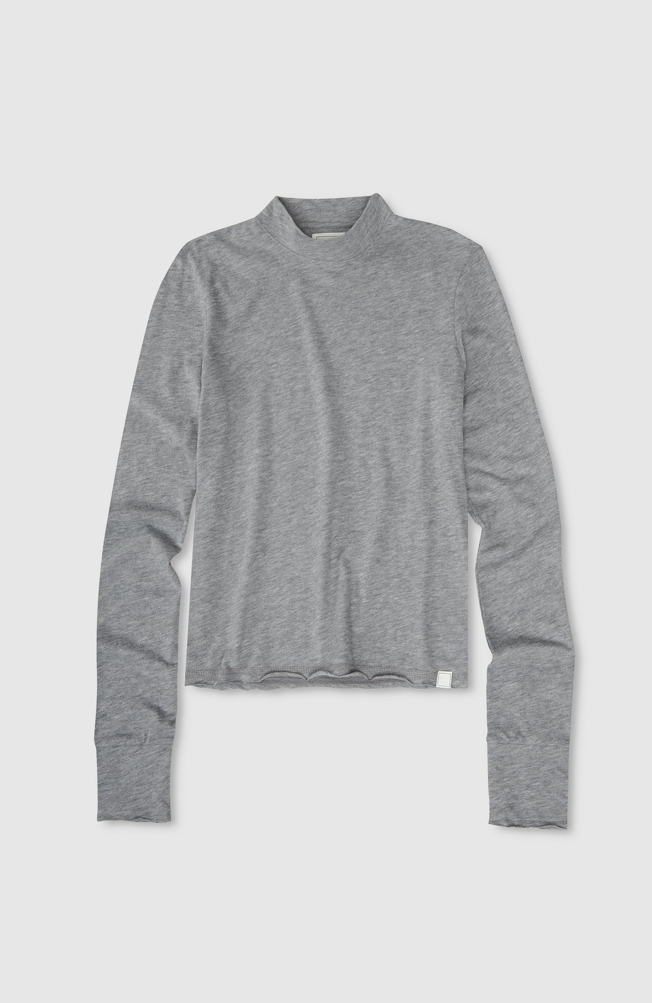 L/S Mock Neck - Heather Grey