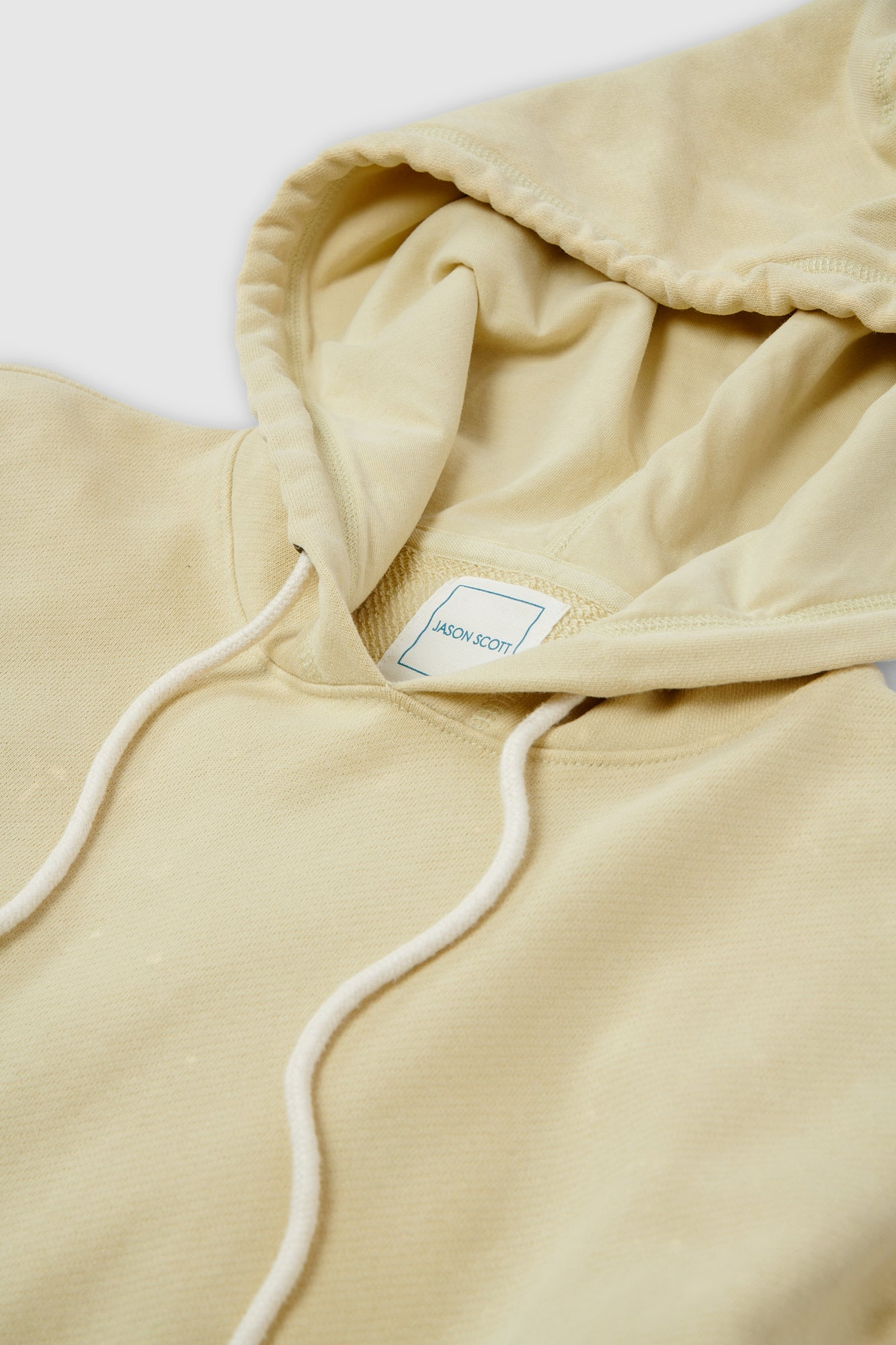 Drop Shoulder Hoodie - Washed Citron Multi