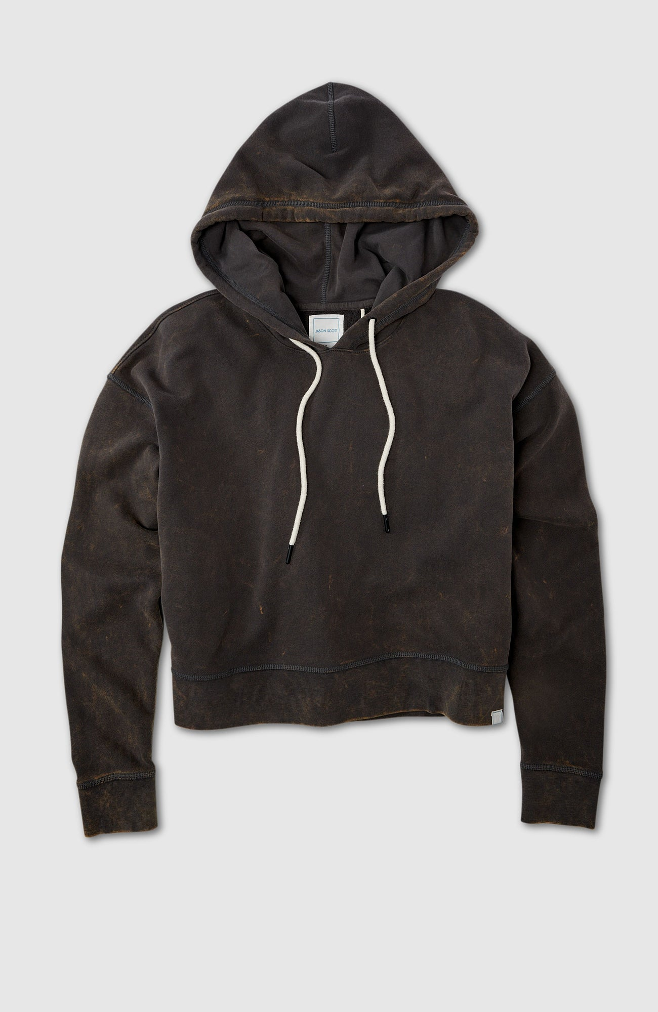 Drop Shoulder Hoodie - Charcoal Multi