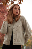 Women's Trucker Jacket - Oatmeal