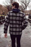 Plaid Jacket - Black/Ivory