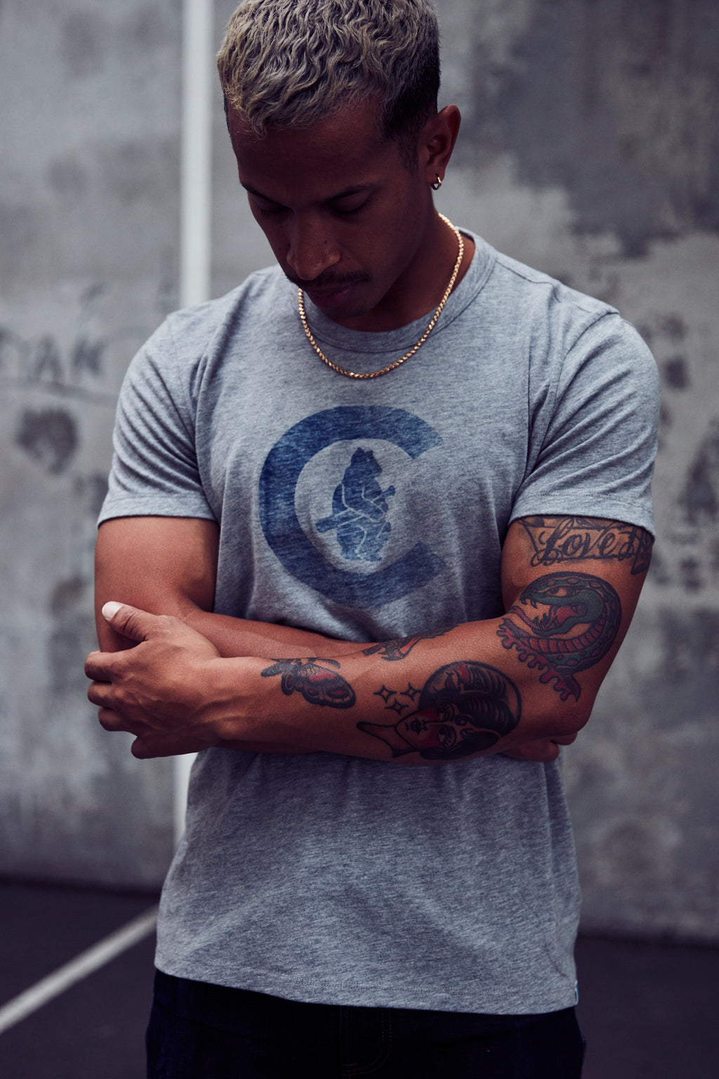 1914 C BEAR TEE C - Heather Grey