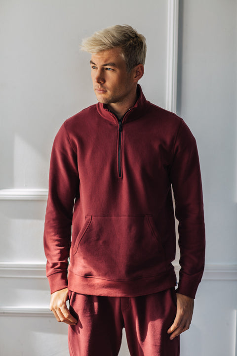 Track Pullover - Burgundy