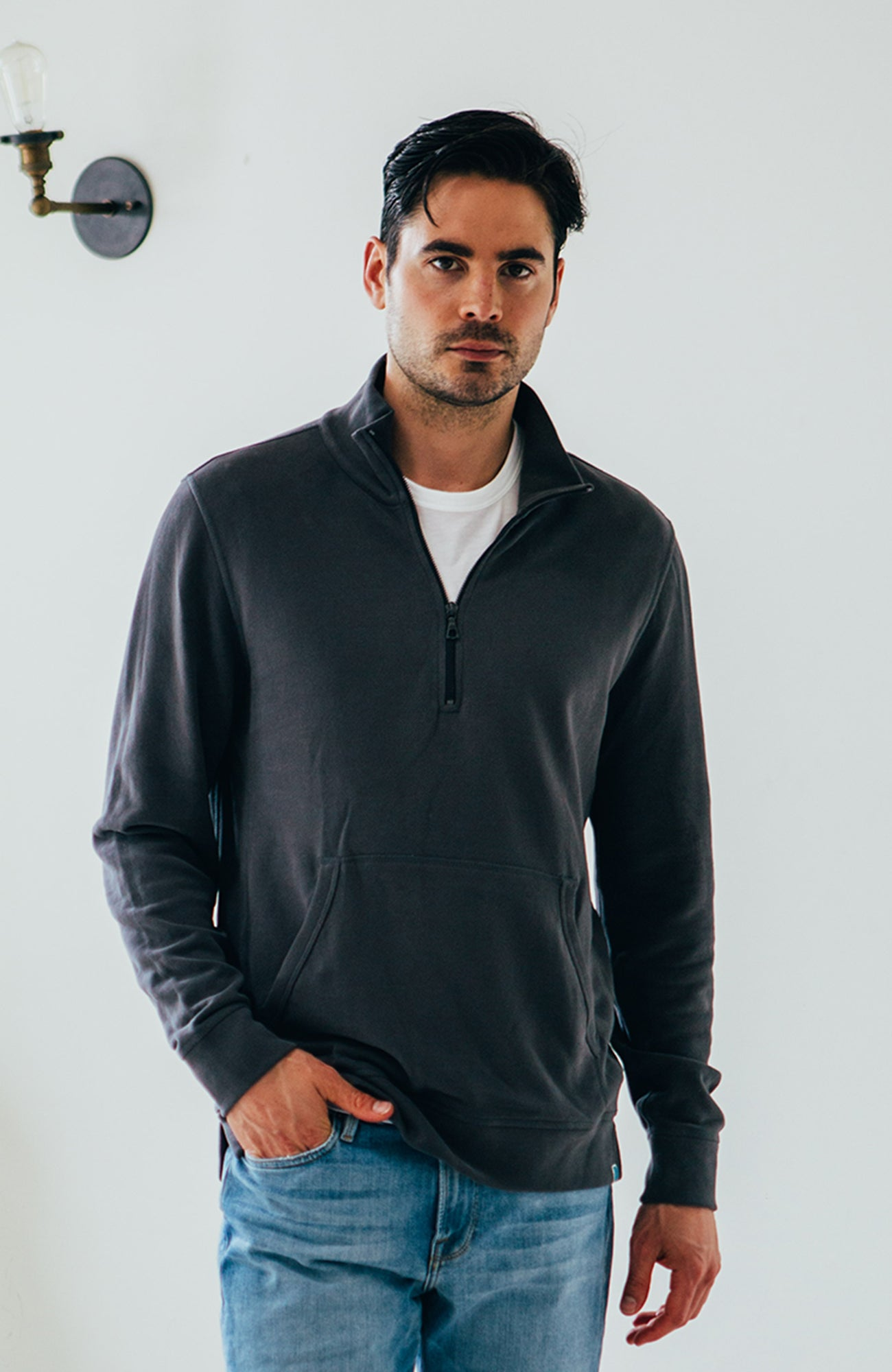 Track Pullover - Charcoal