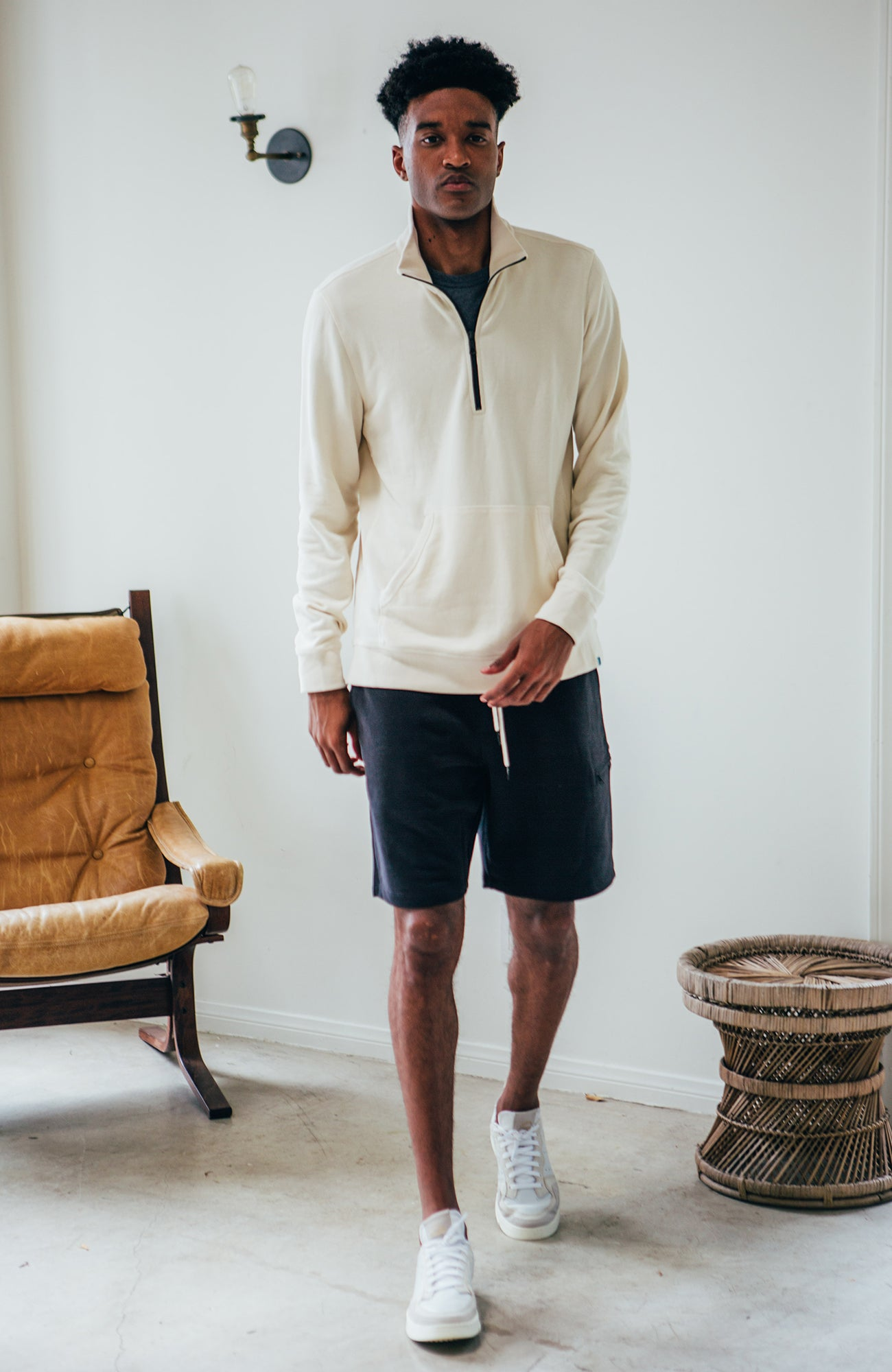 Track Pullover - Ivory