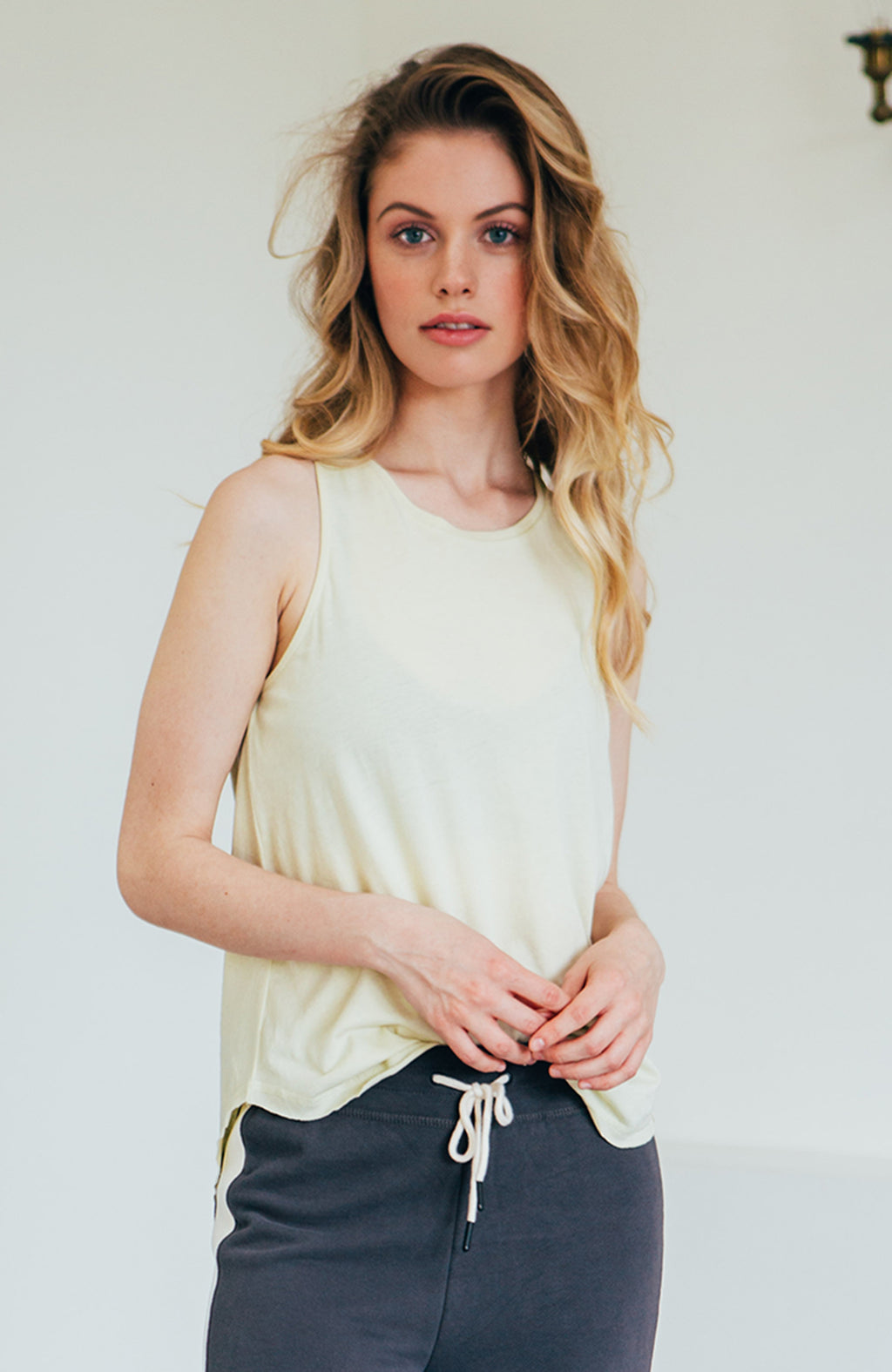 High Neck Tank - Citron