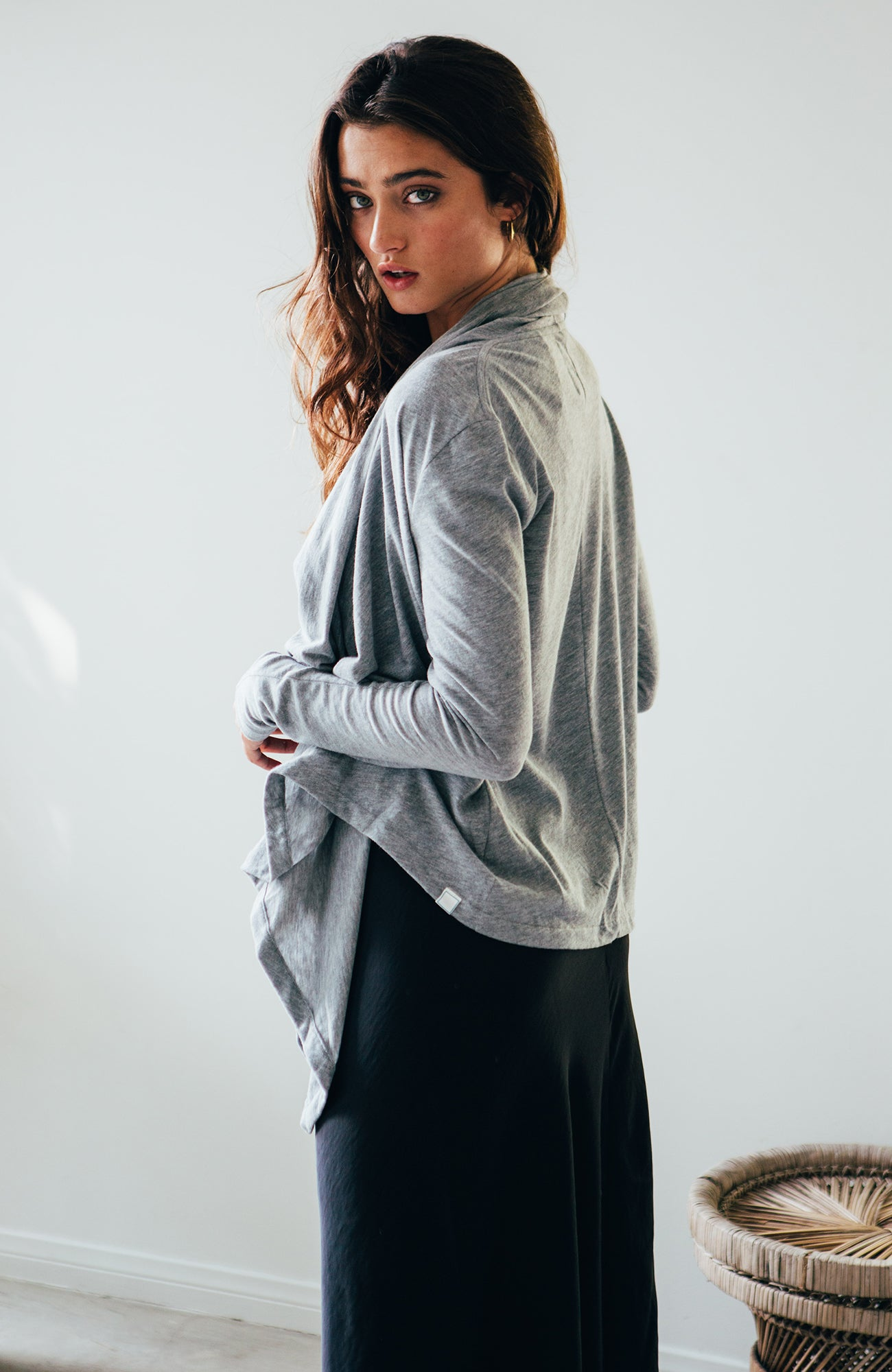 Cascade Cardigan - Heather Grey